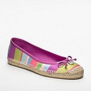 Coach Royce Hamptons Weekend Striped Espadrilles